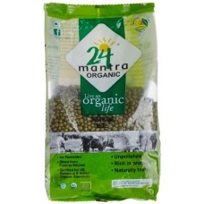 24 Mantra Organic Green Moong Dal Whole 1kg