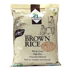 24 Mantra Organic Sonamasuri Raw Rice Brown 1kg