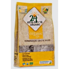 24 Mantra Organic Sonamasuri Raw Rice Polished 10 Kg
