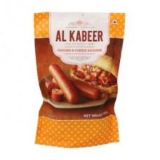 Al Kabeer Sausage - Chicken & Cheese, 250 Gm Pouch