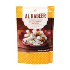 Al Kabeer Sausage - Chicken Pepper, 250 Gm Pouch