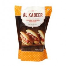 Al Kabeer Sausages - Chicken Skinless, 500 Gm Pouch