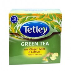Tata Tetley Green Tea Bags Ginger Mint Lemon 10 Pc