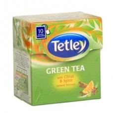 Tata Tetley Green Tea Bags Citrus Spice 10 Pc