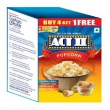 ACT II Instant Popcorn Buy 4 Get 1 Free 280 Gm Box