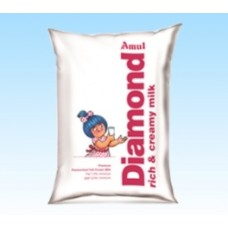 Amul Diamond Pasteurised Milk Poly Pack 500 ML
