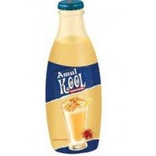 Amul Kool Kesar Flavoured Milk 200 ML Glass Bottle